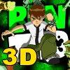 3D Ben10 glijdende puzzel spel