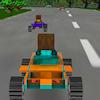 8 bits 3D racing jeu