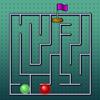 Une course de labyrinthe jeu