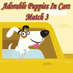 Adorable Puppies In Cars Match 3 game