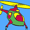 Air helicopter coloring game