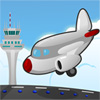 Aeroplano pista estacionamiento juego