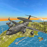 Desafío del simulador de vuelo de avión de la guerra aérea 3D juego