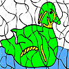 Alone goose coloring game