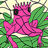 Alone pink frog coloring game