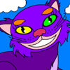 Alice in Wonderland Cheshire Cat colorazione gioco