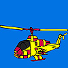 Amazing City helicopter coloring game