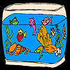 Asombrosos peces de acuario para colorear juego
