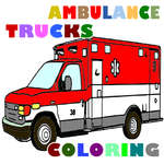Ambulance Trucks Coloriage Pages jeu