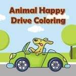 Animal Happy Drive Coloring game