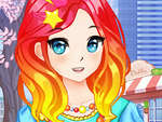 Anime Kawaii Scoala Fete Dress Up joc