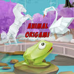 Animal Origami para colorear juego