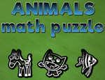 Puzzle di matematica degli animali gioco