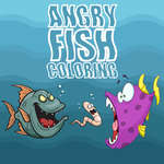 Angry Fish Coloring game