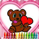 Animals Valentine Coloring game