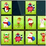 Állatok Memória Karácsony játék