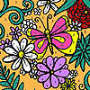 Assorted flowers garden coloring game