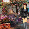 Autumn walk girl dress up game