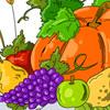 Página de cosecha de otoño para colorear juego