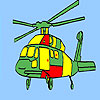 Aviation helicopter coloring game