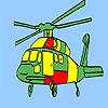 Para colorear helicóptero de aviación juego