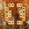 Azteekse stenen Mahjong spel