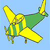 Basic airplane coloring game