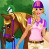 Barbie megy, lovaglás játék