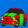 Banded car coloring game