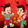 Babys glücklich Chinesisches Frühlingsfest Spiel