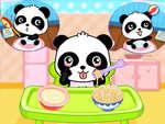 Бебе панда грижа игра