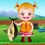 Baby Hazel Angeln Zeit Spiel