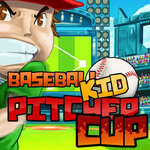 Baseball kid Pitcher cup game