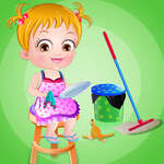 Baby Hazel Cleaning Time game