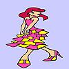 Betty à la fête de coloriage jeu