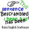 Bescrambled - Basic English Sentences game