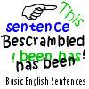 Bescrambled - Basic English Sentences game