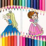 Hermoso libro para colorear princesa juego