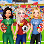Bff Princess Vote For football 2018 juego