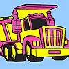 Gran camión de basura para colorear juego