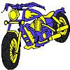 Nagy kék motorkerékpár-színezés játék