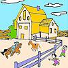 Голяма ферма и коне оцветяване игра