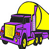 Big purple lorry coloring game