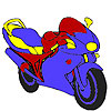 Big wheel motorcycle coloring game