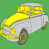 Big historical classic car coloring game