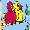 Birds on the tree coloring game