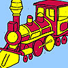 Big army train coloring game