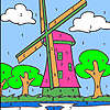 Голяма вятърна мелница оцветяване игра