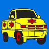 Nagy csillag teherautó színezés játék