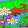 Coloriage de la grande forêt jeu